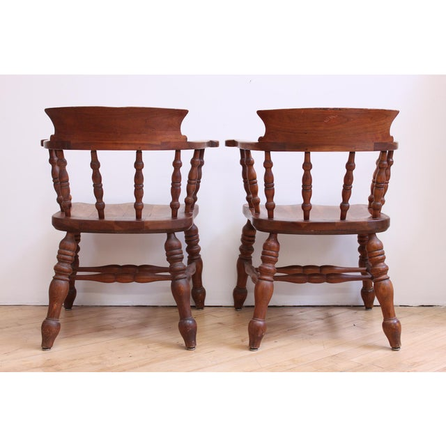 L & JG Stickley Colonial Cherry Valley Captain's Chairs - A Pair - Image 4 of 7