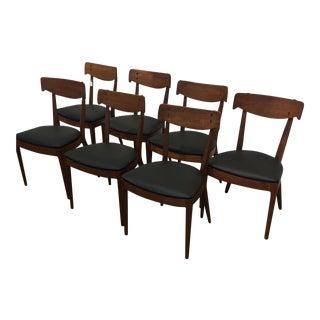 Kipp Stewart for Drexel Walnut 'Declaration' Dining Chairs - 7