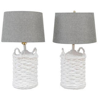 John Dickinson Plaster Lamps - A Pair