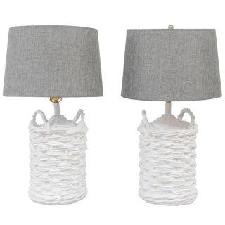 John Dickinson Plaster Lamps - A Pair