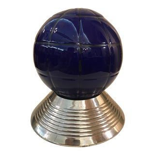 Mid-Century Modern Cobalt Blue Gazing Ball