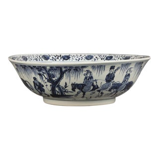 Enormous Chinese Kangxi Style Hand Painted Bowl