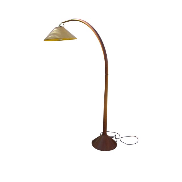 Image of Roche Bobois Danish Modern Arched Floor Lamp