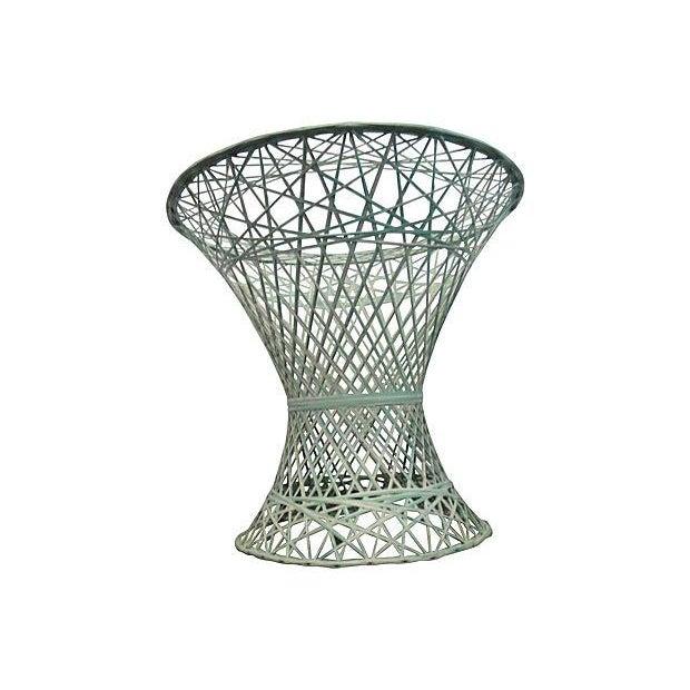 Image of Green and White Spun Fiberglass Table Base