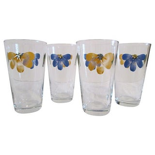 Vintage Libbey Petal Pint Tumblers - Set of 4