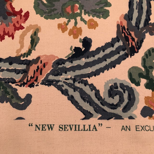"""Lee Jofa's """"New Sevilla"""" in Multi Linen Fabric - Almost 3 Yds - Image 4 of 7"""