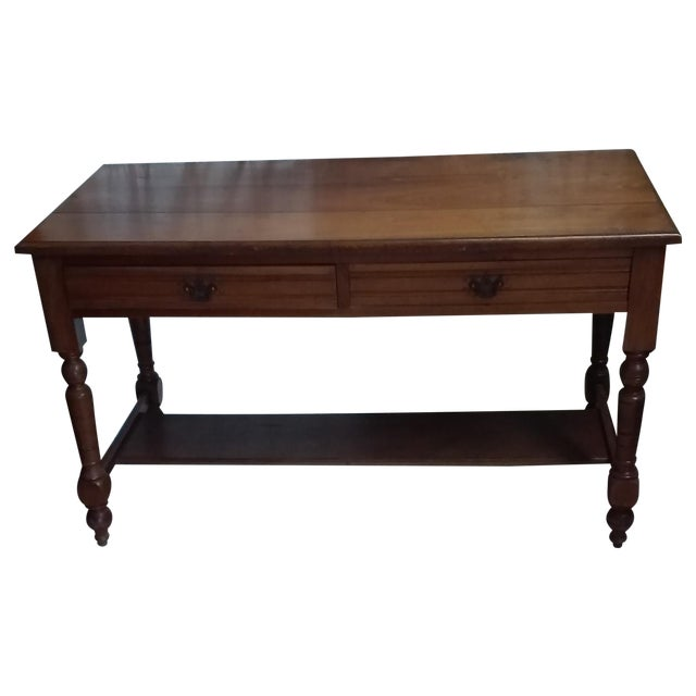 Antique Library Table - Image 1 of 3