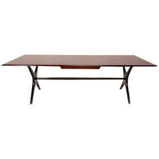 "Mexican Modernist Dining Table with ""X"" Base"
