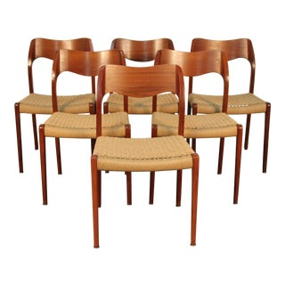 Niels Otto Moller Model 71 Dining Chairs - Set of 6