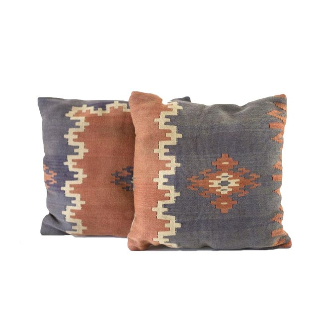 Vintage Kilim Pillow Covers - A Pair - Image 1 of 4
