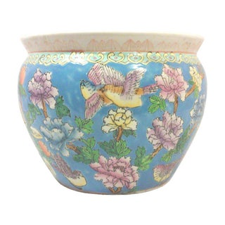 Chinoiserie Pastel Fish Bowl Planter