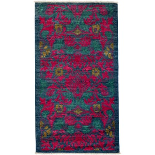 "Arts & Crafts Hand-Knotted Rug - 2'10"" x 5'6"""