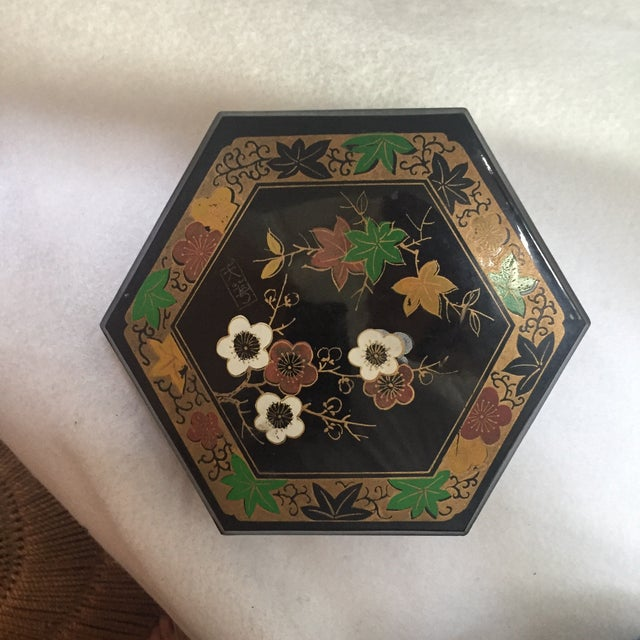 1950s Vintage Japanese Lacquer Style Box - Image 2 of 5