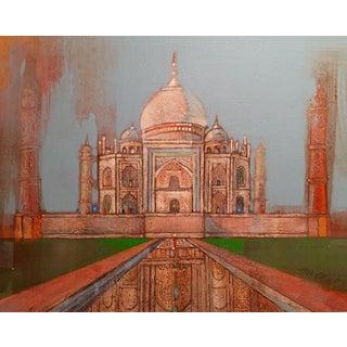 Taj Mahal Watercolor & Acrylic Painting