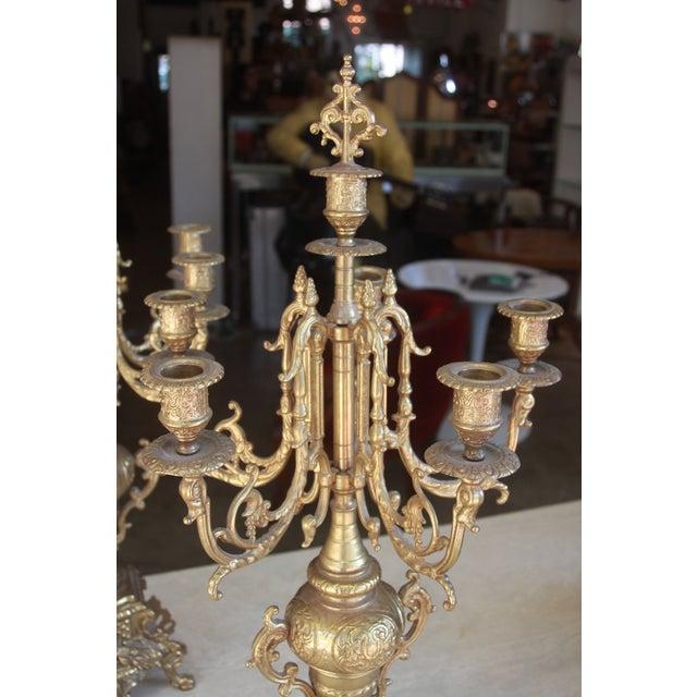 Baroque Italian Bronze Candelabras - A Pair - Image 3 of 10