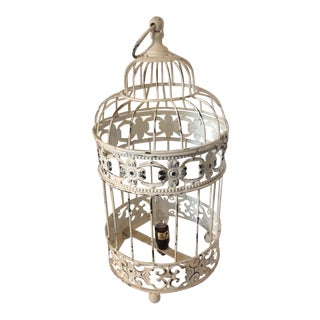 Designer Metal Shabby Chic Bird Cage Lamp