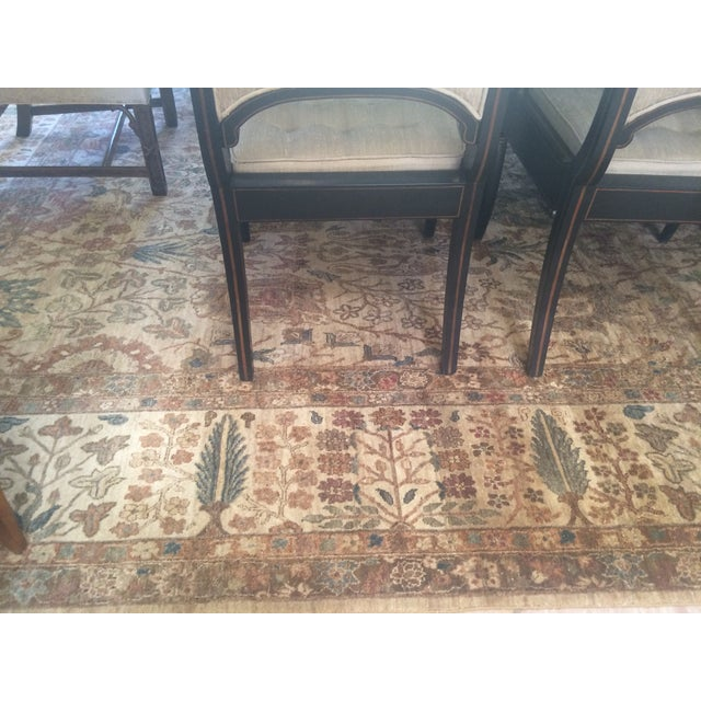 """Handknotted Rust & Teal Wool Area Rug- 10' x 17'8"""" - Image 3 of 8"""