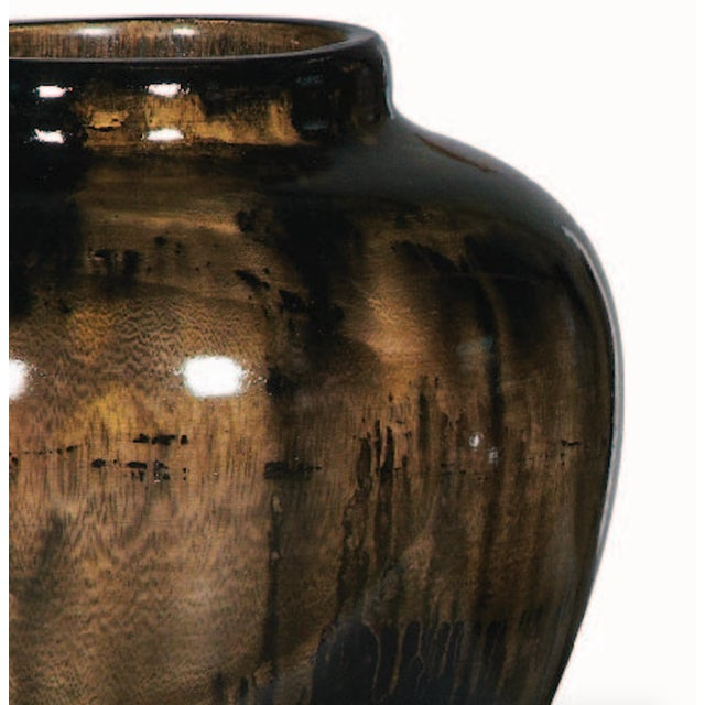Image of Vintage Brown Glazed Vase
