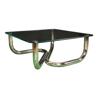 Modern Chrome Tubular Coffee Table