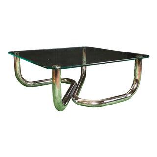 Modern Chrome Tubular Coffee Table
