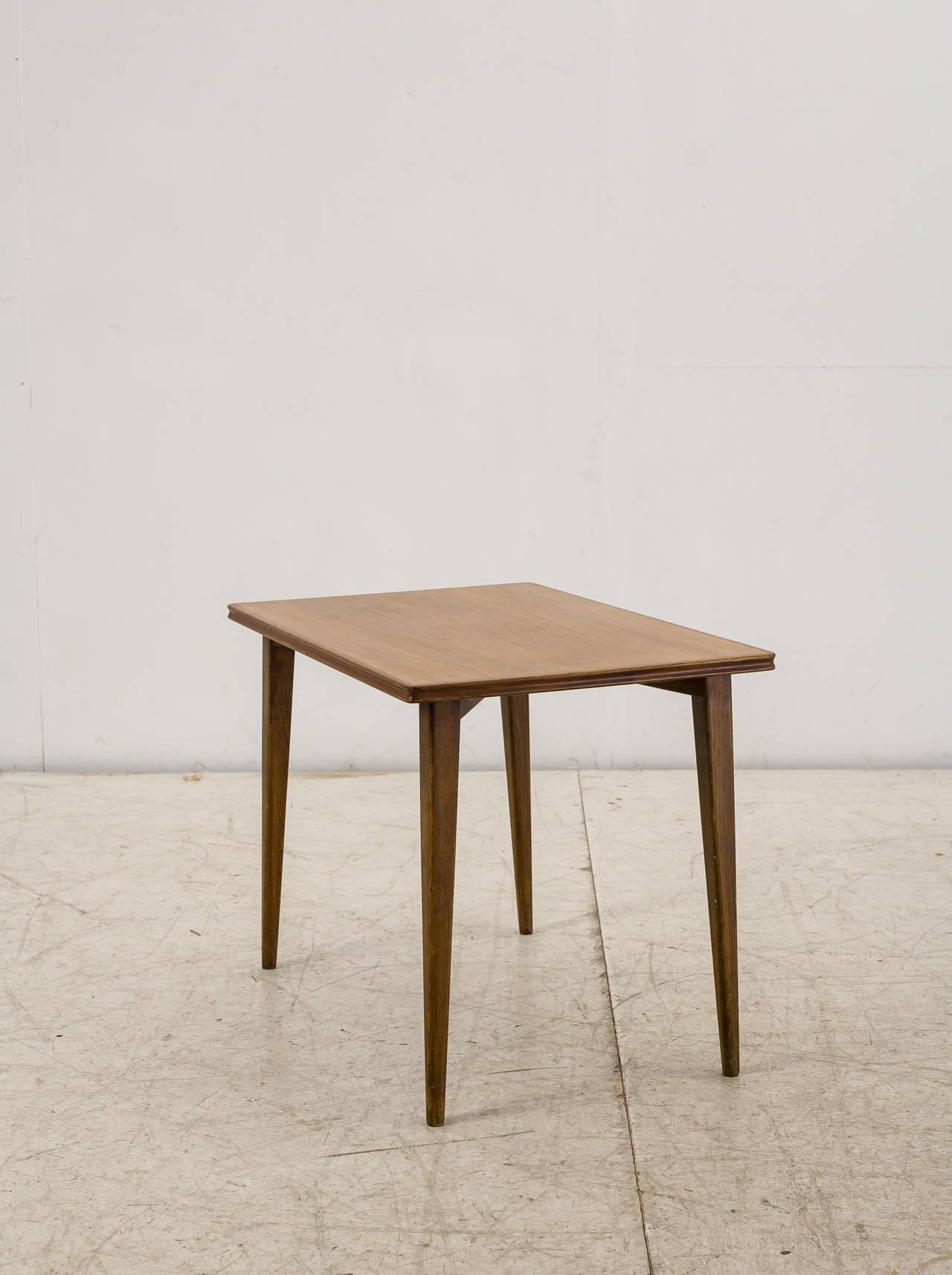 Palle Suenson Small Wooden Side Table, Denmark, 1940s   Image 2 Of 9