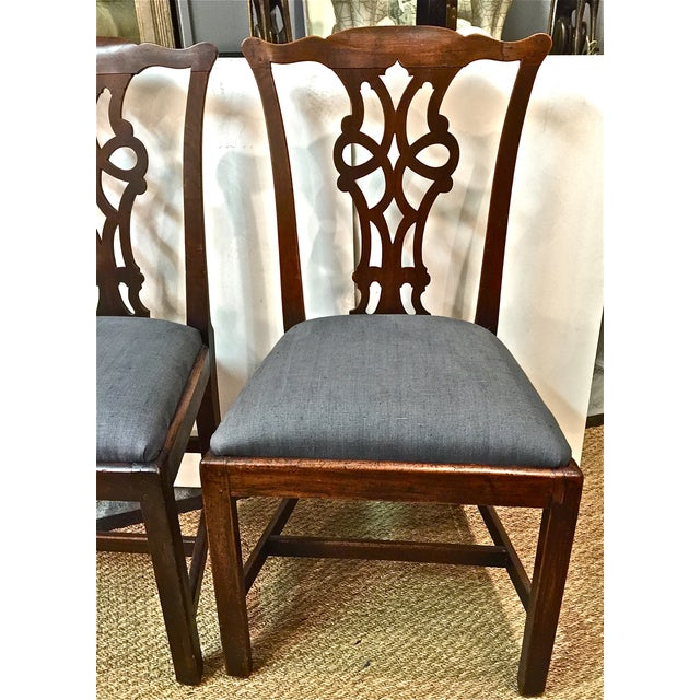 Antique 18th C. Georgian Side Chairs - A Pair - Image 3 of 7