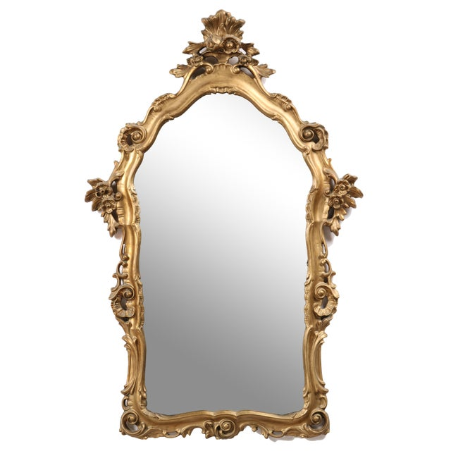 Image of 1960s French Rococo-Style Parlor Mirror