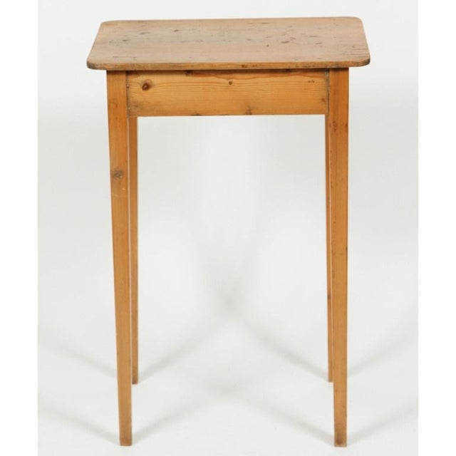 Image of Antique 19th Century English Pine Side Table