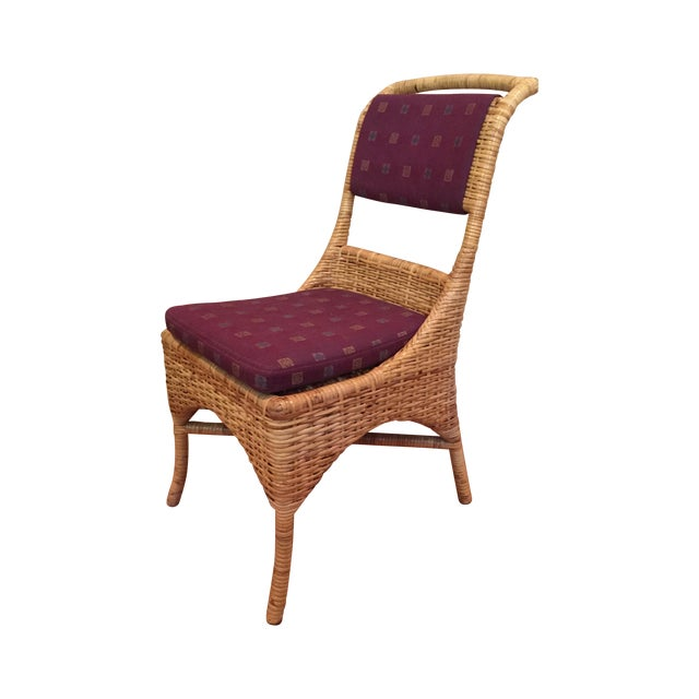 Vintage McGuire Caned Side Chair - Image 1 of 8