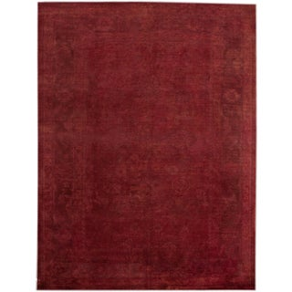Apadana Red Over-Dyed Rug - 8′10″ × 11′10″