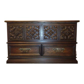 Lane Carved Oak Sweetheart Chest
