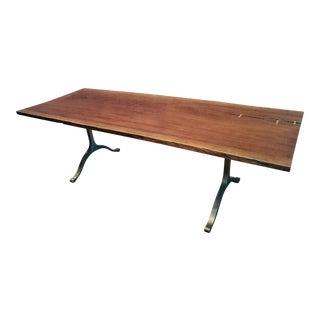 George Nakashima Style Large Walnut Dining Table