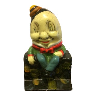 1960s Humpty Dumpty Cast Iron Bank