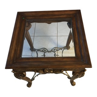 Glass & Wood End Table