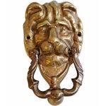 Image of Mid-Century Brass Lion Door Knocker