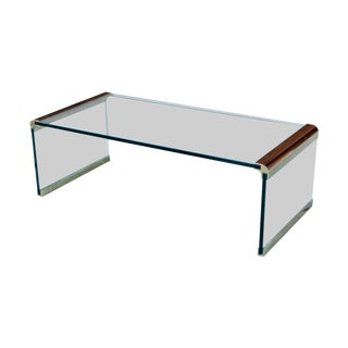 Pace Vintage Glass Waterfall Coffee Table