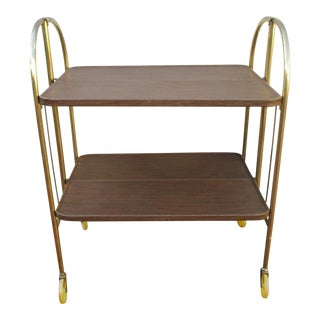 Folding Metal Bar Cart