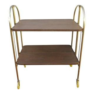 Folding Metal Bar Cart