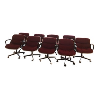 Charles Pollock for Knoll Mid-Century Swivel Chairs - Set of 9