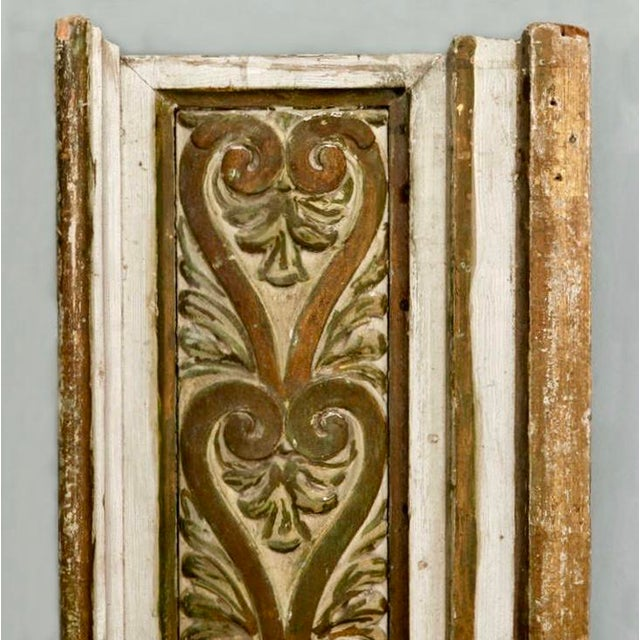 French Gilded Hand Carved Architectural Element Wall Panel c.1900 - Image 5 of 5