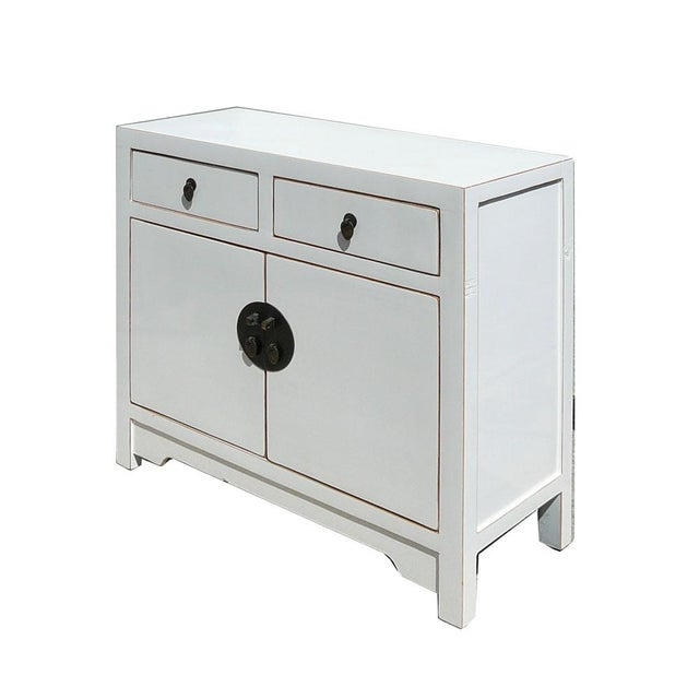 Slim & Narrow White Side Table/Console/Cabinet