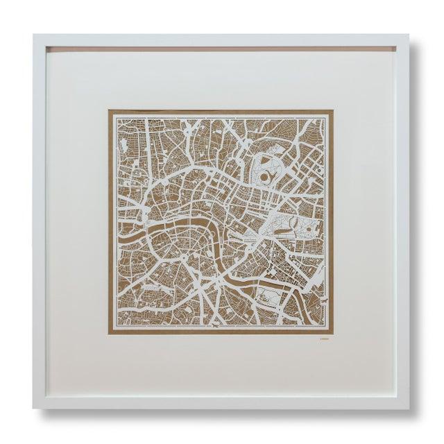 Sarreid LTD London Framed Map - Image 3 of 3