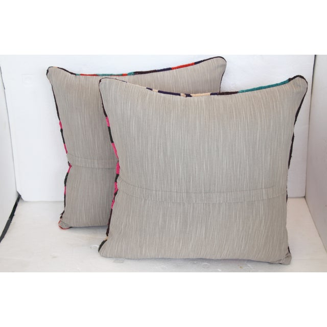 Neon Turkish Kilim Cushions - Pair - Image 7 of 7