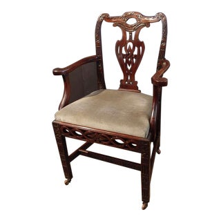 Chinese Export Chippendale Style Armchair, Late 18th Century