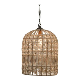 French Beaded Birdcage Chandelier