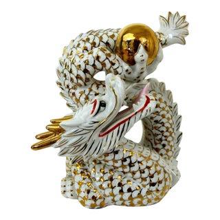 Vintage Porcelain Gold Dragon