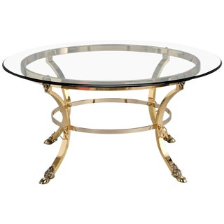 Mid-Century Spanish Neoclassical Ram's Foot Cocktail Table
