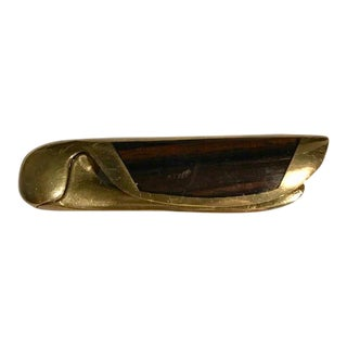 Mid-Century Modern Wood & Brass Letter Opener