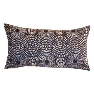 Sunburst Blue Indigo Pillow