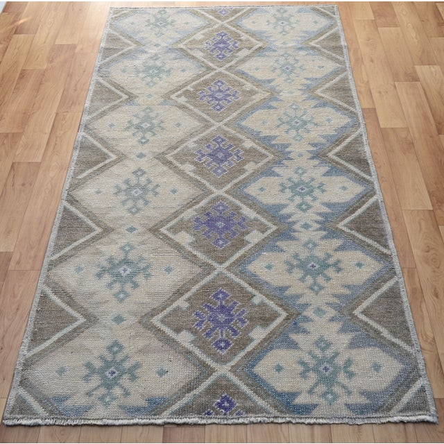 Hand-Knotted Antiqued Turkish Rug - 3′1″ × 5′7″ - Image 6 of 9